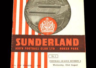 Sunderland v Charlton 22.08.1962