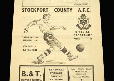 Stockport v Chester 08.03.1958