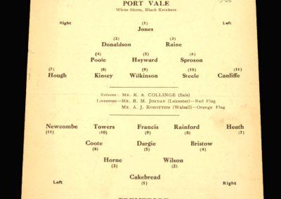 Port Vale v Brentford 24.03.1958