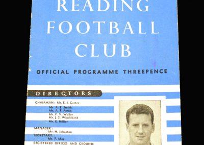 Reading v Swindon 29.03.1958