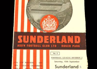 Sunderland v Luton 15.09.1962