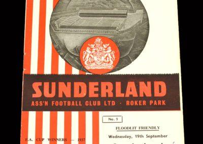 Sunderland v Standard Liege 19.09.1962 (Friendly)