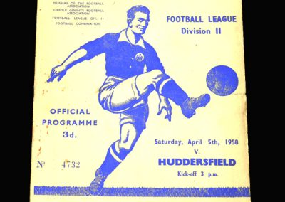 Ipswich v Huddersfield 05.04.1958