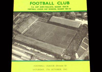 Sunderland v Norwich 27.10.1962