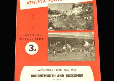 Bournemouth v Port Vale 30.04.1958