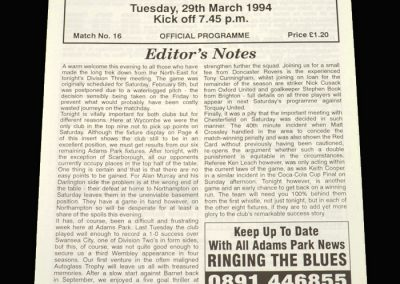 Wycombe v Darlington 29.03.1994