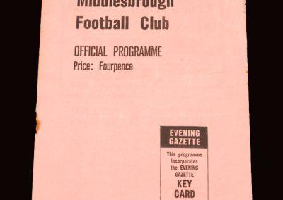Sunderland v Middlesbrough 15.12.1962