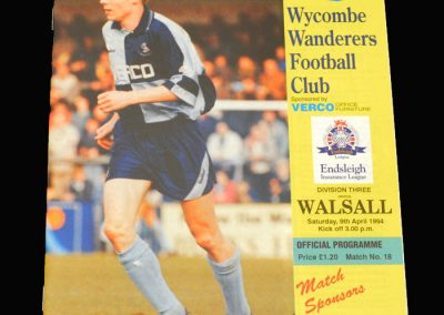 Wycombe v Walsall 09.04.1994