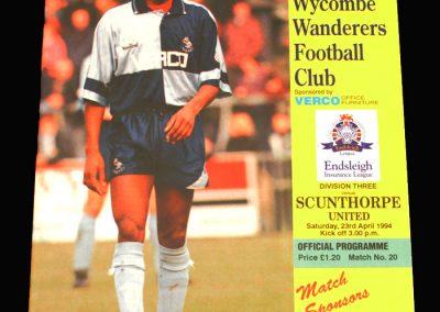 Wycombe v Scunthorpe 23.04.1994