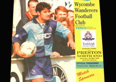 Wycombe v Preston 07.05.1994