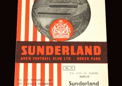 Sunderland v Gravesend & Northfleet (Ebbsfleet United) 18.02.1963 - FA Cup 2nd Round Replay