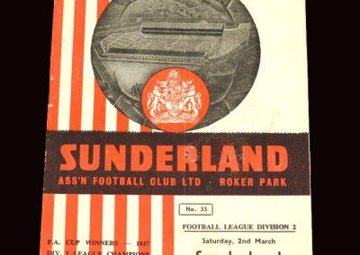Sunderland v Newcastle 02.03.1963