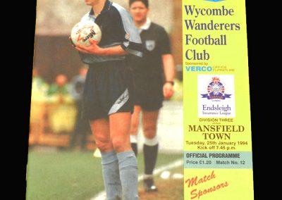 Wycombe v Mansfield 25.01.1994