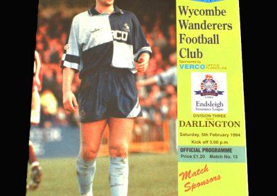 Wycombe v Darlington 05.02.1994 (postponed)