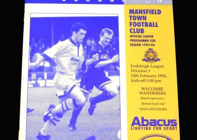 Wycombe v Mansfield 12.02.1994