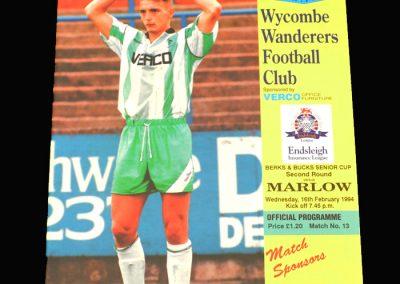 Wycombe v Marlow 16.02.1994 - B&B Senior