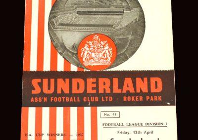 Sunderland v Stoke 12.04.1963