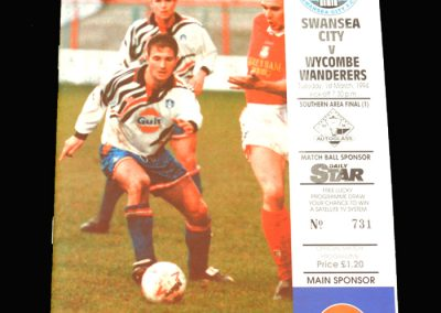 Wycombe v Swansea 01.03.1994 - FA Trophy Final South 1st Round