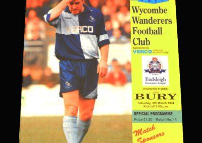 Wycombe v Bury 05.03.1994