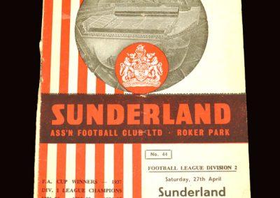 Sunderland v Huddersfield 27.04.1963