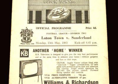 Sunderland v Luton 13.05.1963