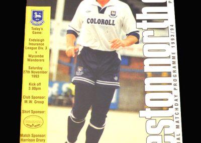 Wycombe v Preston 27.11.1993