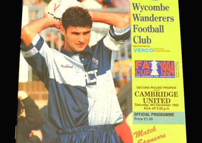 Wycombe v Cambridge 04.12.1993 - FA Cup 2nd Round