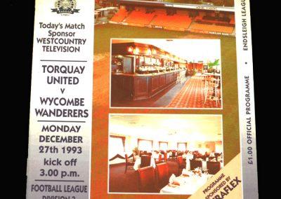 Wycombe v Torquay 27.12.1993