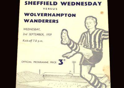 Wolves v Sheff Wed 02.09.1959