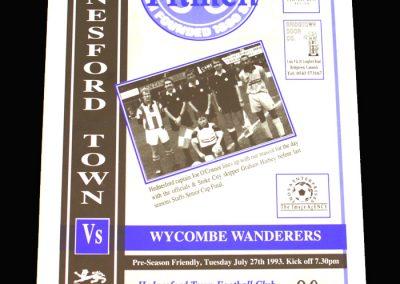 Wycombe v Hednesford 27.07.1993 (Friendly)