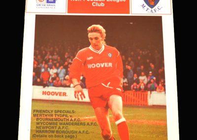Wycombe v Merthyr Tydfil 28.07.1993 (Friendly)