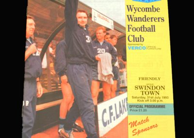 Wycombe v Swindon 31.07.1993 (Friendly)