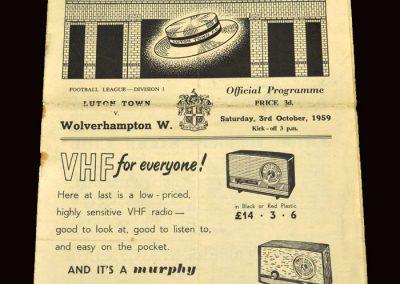 Wolves v Luton 03.10.1959