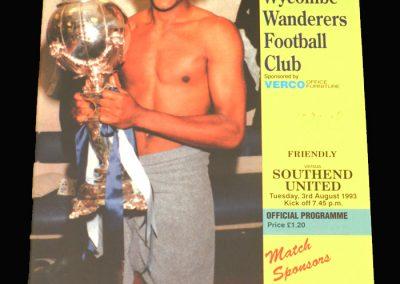 Wycombe v Southend 03.08.1993 (Friendly)