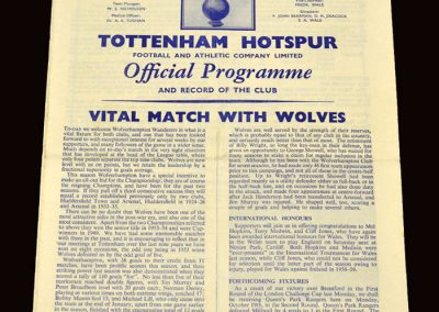 Wolves v Spurs 10.10.1959