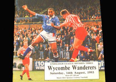 Wycombe v Carlisle 14.08.1993
