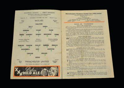 Wolves v Man Utd 17.10.1959