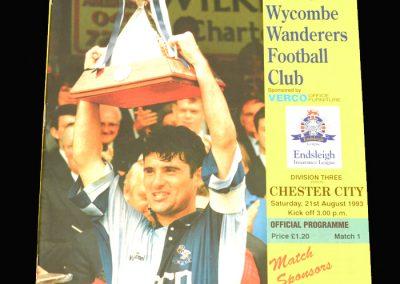 Wycombe v Chester City 21.08.1993