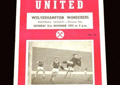 Wolves v West Ham 21.11.1959