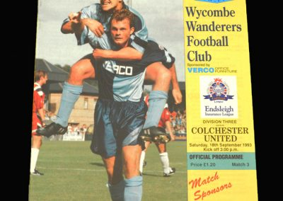 Wycombe v Colchester 18.09.1993