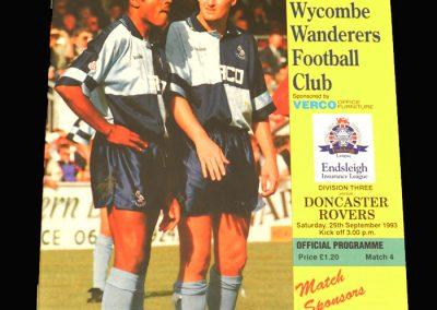 Wycombe v Doncaster 25.09.1993