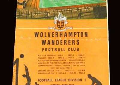 Wolves v Leicester 12.12.1959
