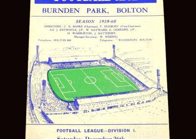 Wolves v Bolton 26.12.1959