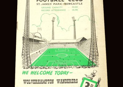 Wolves v Newcastle 09.01.1960 - FA Cup 3rd Round