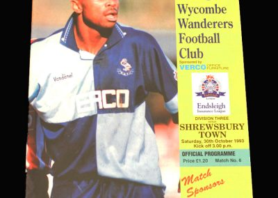 Wycombe v Shrewsbury 30.10.1993