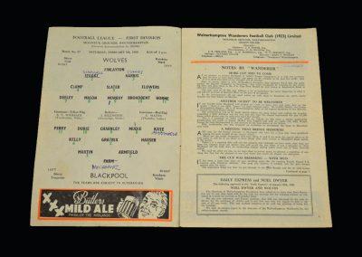 Wolves v Blackpool 06.02.1960