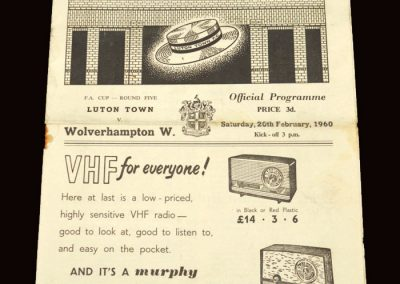Wolves v Luton 20.02.1960 - FA Cup 5th Round