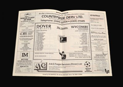 Wycombe v Dover 15.08.1992 (Friendly)
