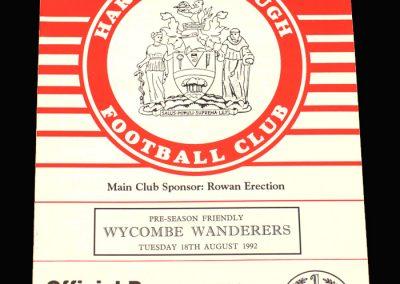 Wycombe v Harrow 18.08.1992 (Friendly)