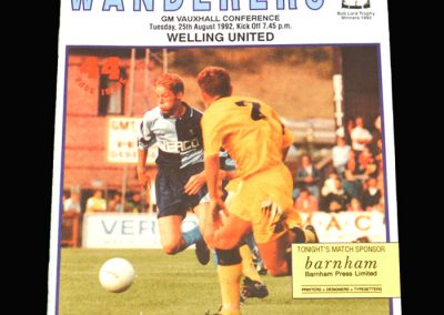 Wycombe v Welling 25.08.1992